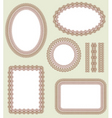 frame set decorative vector elements vector image vector image