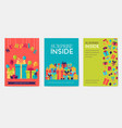 gift information cards set surprise template of vector image vector image