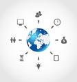 Global internet communication set business vector image