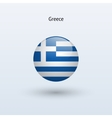 Greece round flag vector image
