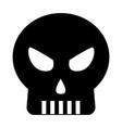 halloween skull isolated icon vector image