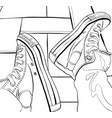 hand drawing of a sneakers vector image vector image