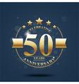 happy anniversary celebration on gold design vector image vector image