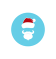 Icon Colorful Santa Claus Face vector image