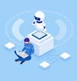 isometric man programming robot settings