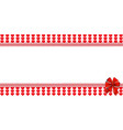 love template with space for text and festive bow vector image vector image