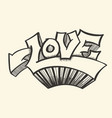 love with hearts drawn vector image