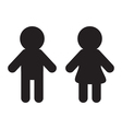 Man and Woman icon Restroom symbol Isolated White vector image