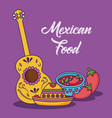 mexican food design vector image