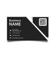 modern business card black background image vector image