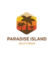Paradise Island flat logo for your company