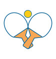 ping pong sport vector image vector image
