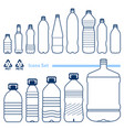 plastic bottles set vector image
