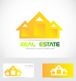 Real estate yellow house logo vector image vector image