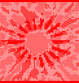 red dot halftone effect background vector image vector image