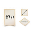 retro postal stamp template with shadow vintage vector image
