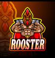 rooster esport logo mascot design vector image vector image