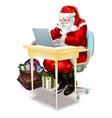 santa shops on-line vector image vector image