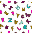 seamless background with colorful letters vector image