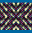 seamless color centre knitting pattern vector image vector image