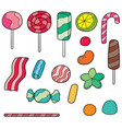 set of sweets and candies vector image vector image