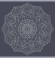 silver color mandala vintage decorative elements vector image vector image
