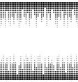 sound waves seamless halftone pattern vector image vector image