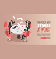 stress at work banner vector image vector image
