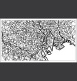 tokyo japan city map in black and white color vector image