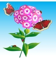 Tree with butterflies and dragonflies vector image vector image