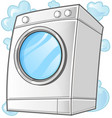 washing machine clip art vector image vector image