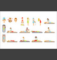women receiving skin and body treatment in spa vector image vector image