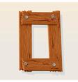 wooden type vector image vector image