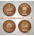 Set of labels with beer vector image