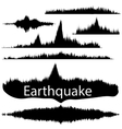 Earthquake Wave on Paper Fixing Audio Wave Set vector image