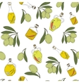 Pattern with branches of the olive tree vector image