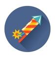 rocket fireworks icon vector image