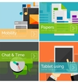 Mobility concept flat design banners vector image