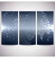 Abstract flash banners set dark design vector image vector image