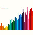 abstract of colorful stripe line background vector image vector image