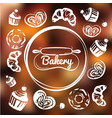 bakery cafe identity concept chalkboard sweets vector image