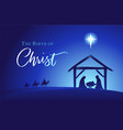 birth christ holy family and manger vector image vector image