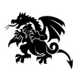 black dragon isolated on white vector image