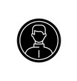 business user black icon sign on isolated vector image vector image