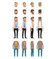 businessman dresscode collection vector image vector image