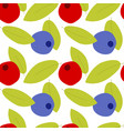 cartoon berry pattern on transparent background vector image