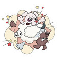 cartoon of fighting dogs vector image