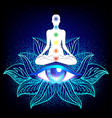 chakra concept inner love light and peace vector image