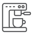 coffee machine line icon kitchen and cooking vector image vector image