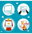 Computer is your assistant vector image vector image